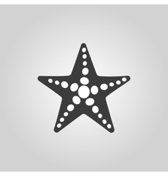 The starfish icon Ocean symbol Flat vector image