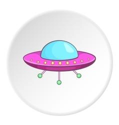 Ufo icon cartoon style vector