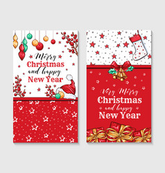 very merry christmas greeting cards vector image