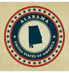 Vintage label alabama vector