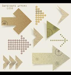 Vintage old paper arrows vector image
