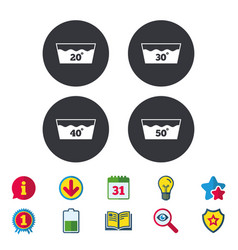 Wash icons machine washable at forty degrees vector