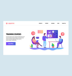 Web site design template business meeting vector