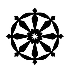 Wheel of samsara symbol of reincarnation the vector