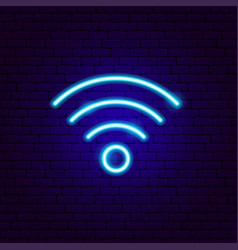 Wi-fi neon sign vector