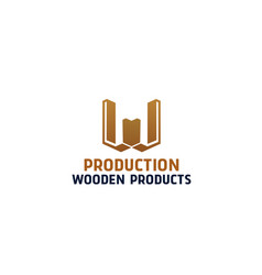 wooden products icon vector image