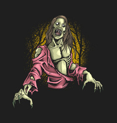 zombie hungry graphic vector image