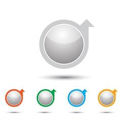 arrow icon2 vector image vector image