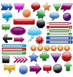 bigweb set vector image
