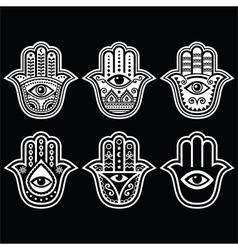 Hamsa hand hand of fatima - amulet protection vector