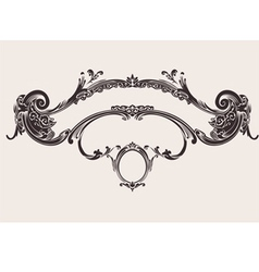 Royal vintage curves banner vector