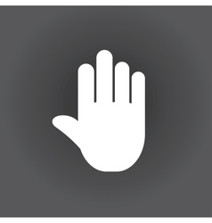 stop icon hand vector image vector image
