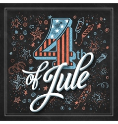 Typography card Independence Day Chalk board vector image