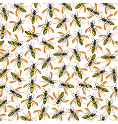 background pattern with wasps vector image vector image
