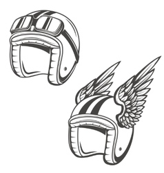 Baker helmet with wings Design element for logo vector image vector image