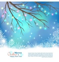 Christmas Light Bulbs Background vector image vector image