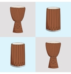 djembe and dunumba vector image