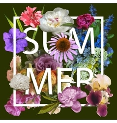 Floral and summer Graphic Design vector image vector image