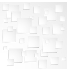 Much of white paper sheet with the shadow vector image vector image