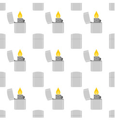 seamless pattern lighter vector image vector image