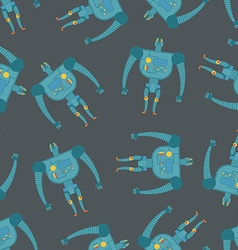 Vintage toy Robots seamless pattern Background of vector image vector image