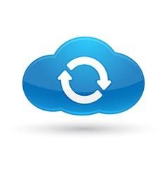 Cloud Computing Sync Icon vector image vector image