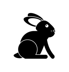 Easter bunny cute symbol pictogram vector