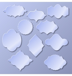 Set of paper frames with shadow vector image