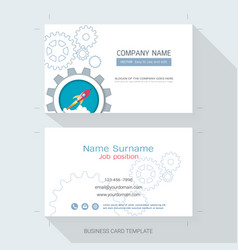 Business card or name card template vector image startup business card or name card template vector image colourmoves Choice Image