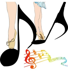 Dance of notes vector