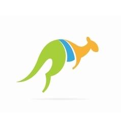 kangaroo logo design template vector image vector image