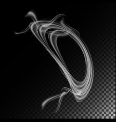 realistic cigarette smoke waves abstract vector image vector image