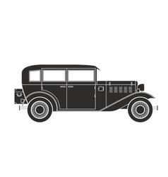 Retro car vintage collection vector