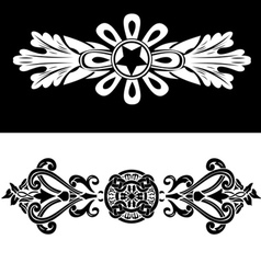 Set Of Two Vintage Ornate Frames vector image