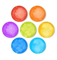 set of watercolor circles vector image