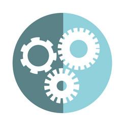Sticker industry gears engineering process vector