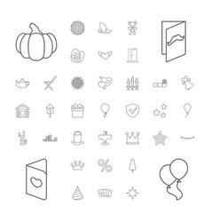 37 decoration icons vector