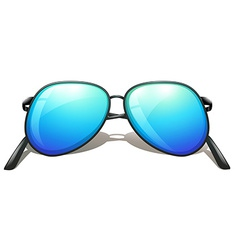 A blue sunglasses vector