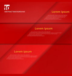 Abstract background with red paper overlap layers vector
