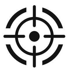 Aim target icon simple style vector