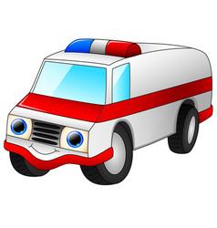 ambulance car cartoon isolated on white background vector image