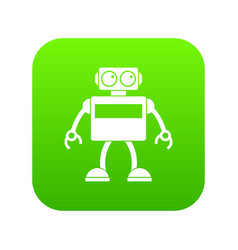 android robot icon digital green vector image