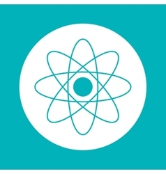 Atom inside circle design vector