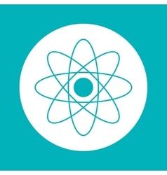 Atom inside circle design vector