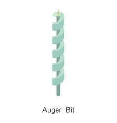 Auger bit icon isometric 3d style vector