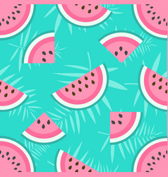 background with watermelons vector image