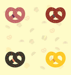 Bagel set icons vector