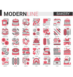 bakery complex concept flat line icon vector image