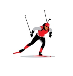 Biathlete sign vector