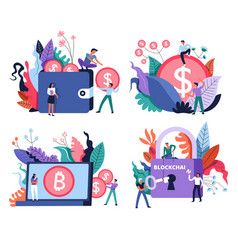 bitcoin mining and marketplace digital currency vector image